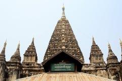 Templo de Mahabodhi Imagem de Stock Royalty Free