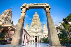 Templo de Mahabodhi em Bodhgaya Foto de Stock
