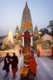 Templo de Mahabodhi en Bodh Gaya, Bihar, la India Imagen de archivo libre de regalías