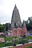 Templo de Mahabodhi en Bodhgaya Imágenes de archivo libres de regalías