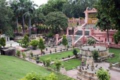 Templo de Mahabodhi en Bodhgaya Imagen de archivo libre de regalías