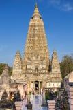 Templo de Mahabodhi, gaya del bodh, la India Foto de archivo