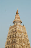 Templo de Mahabodhi, gaya do bodh, Índia O local onde Gautam Buddha Imagens de Stock Royalty Free