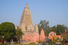 Templo de Mahabodhi, gaya do bodh, Índia O local onde Gautam Buddha Foto de Stock
