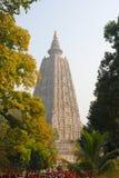 Templo de Mahabodhi, gaya do bodh, Índia O local onde Gautam Buddha Fotografia de Stock Royalty Free