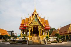Templo de Mahabut, Wat Maha But Temple - Mae Nak Shrine, Bangkok, Tailandia fotos de archivo libres de regalías
