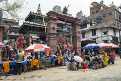 Templo de Mahendreswor en el cuadrado de Katmandu Durbar, Nepal Fotografía de archivo libre de regalías