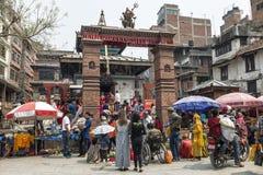 Templo de Mahendreswor en el cuadrado de Katmandu Durbar, Nepal Fotos de archivo