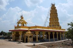 Templo de Malganga cerca por Nighoj, distrito de Ahmednagar, maharashtra fotos de archivo libres de regalías