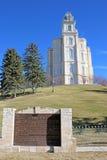 Templo de Manti, Utah Fotografía de archivo libre de regalías