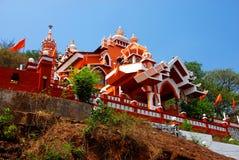 Templo de Maruti em Panjim, dedicado ao deus hindu Hanuman do macaco fotografia de stock