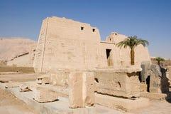 Templo de Medinet Habu Foto de archivo