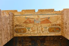 Templo de Medinet Habu em Luxor foto de stock royalty free