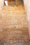 Templo de Medinet Habu em Luxor imagem de stock