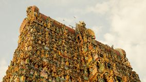 Templo de Meenakshi Amman en Madurai, la India Imagen de archivo