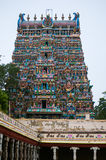 Templo de Meenakshi Amman en Madurai, Tamil Nadu, la India fotos de archivo