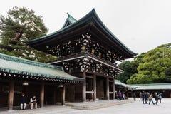 Templo de Meiji-jingu em Shibuya, Tóquio, Japão fotos de stock royalty free
