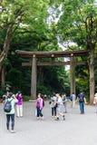 Templo de Meiji Shrine no Tóquio Imagem de Stock