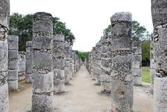 Templo de mil guerreros en Chichen Itza Imagen de archivo