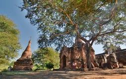 Templo de Mimalaung Kyaung Bagan myanmar Imagem de Stock