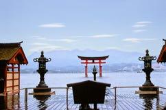 Templo de Miyajima fotografia de stock