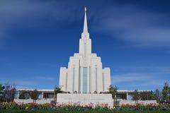 Templo de Mormon da montanha de Oquirrh Fotos de Stock