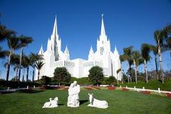 Templo de mormones fotografía de archivo libre de regalías