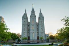 Templo de mormones en Salt Lake City, UT Foto de archivo libre de regalías