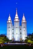 Templo de mormones en Salt Lake City, UT Fotografía de archivo