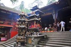 Templo de Mount Qingcheng Shangqing, Sichuan, China fotos de stock royalty free