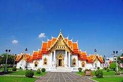 Templo de mármol en Tailandia Imagen de archivo libre de regalías