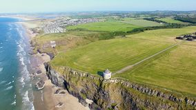 Templo de Mussenden e Demesne em declive Coleraine Co Derry Northern Ireland imagens de stock