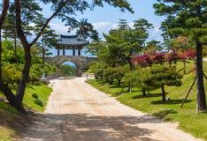 Templo de Naksansa en Sokcho, Corea del Sur Imágenes de archivo libres de regalías