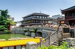 Templo de Nanjing confucius Fotografia de Stock