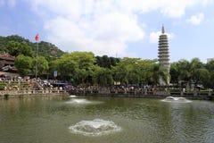 Templo de Nanputuosi en el día de fiesta chino del día nacional Imagen de archivo