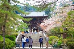 Templo de Nara en primavera Imagenes de archivo