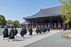 Templo de Nishi Hongan-ji, Kyoto fotografía de archivo libre de regalías