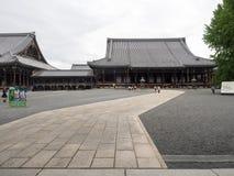 Templo de Nishi Honganji - Kyoto, Japón Imagen de archivo libre de regalías