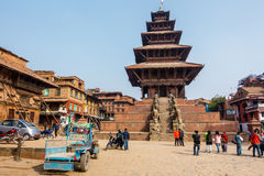 Templo de Nyatapola em Bhaktapur Imagens de Stock
