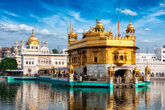 Templo de oro, Amritsar Fotos de archivo libres de regalías