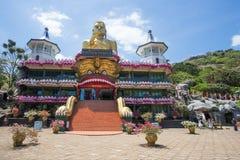 Templo de oro, Dambulla, Sri Lanka Foto de archivo