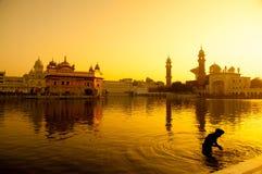 Templo de oro de Amritsar Fotos de archivo libres de regalías