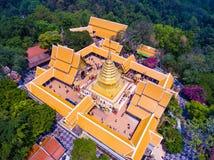 Templo de oro de la visión superior Imagenes de archivo