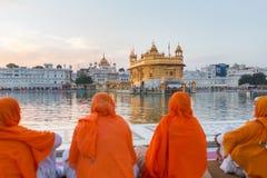 Templo de oro en Amritsar, Punjab, la India Fotografía de archivo libre de regalías