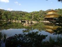 Templo de oro en Kyoto, parque Imagen de archivo