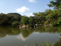 Templo de oro en Kyoto, parque Fotos de archivo libres de regalías