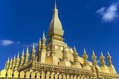 Templo de oro en Vientián, Laos Fotos de archivo libres de regalías