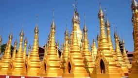 Templo de oro de Hang Si, Myanmar almacen de video