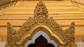 Templo de oro de Myanmar foto de archivo libre de regalías