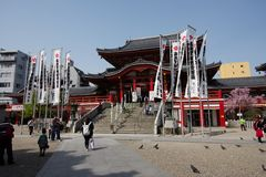 Templo de Osu Kannon imagen de archivo